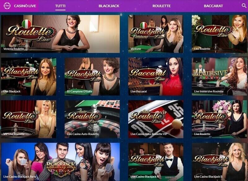 Starvegas ha più di 30 diversi giochi di casinò dal vivo per giocatori italiani.