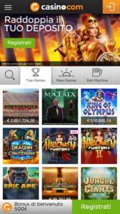 Casino Lobby mobile Casino.com