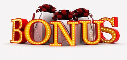 immagine di numerosi regali e testo bonus