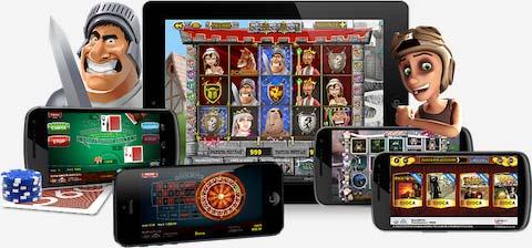 Immagine che mostra vari tablet e cellulari su cui puoi giocare