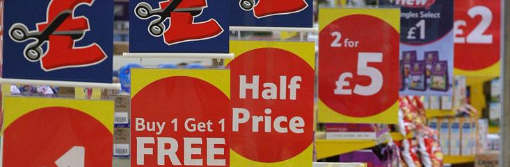 Offerte gratuite in un supermercato
